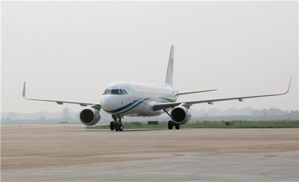 王伯尧执飞鲨鳍小翼飞机从德国汉堡顺利抵达咸阳机场